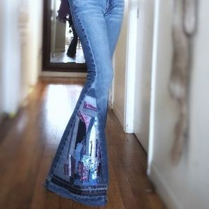 Bell bottom jeans Jeans - Bell Bottom Jeans up-cycled handmade
